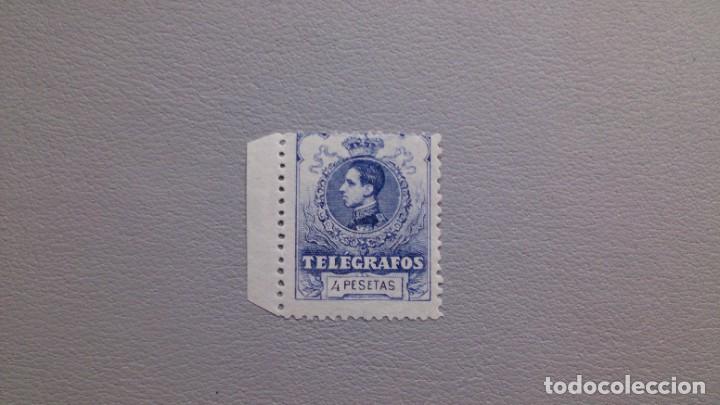 ESPAÑA-1912 - TELEGRAFOS - EDIFIL 53 - MNH** - NUEVO - VARIEDAD PEUEBA - NUMERACION A000,000 -B.HOJA (Sellos - España - Telégrafos)