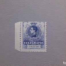 Sellos: ESPAÑA-1912 - TELEGRAFOS - EDIFIL 53 - MNH** - NUEVO - VARIEDAD PEUEBA - NUMERACION A000,000 -B.HOJA. Lote 220059692