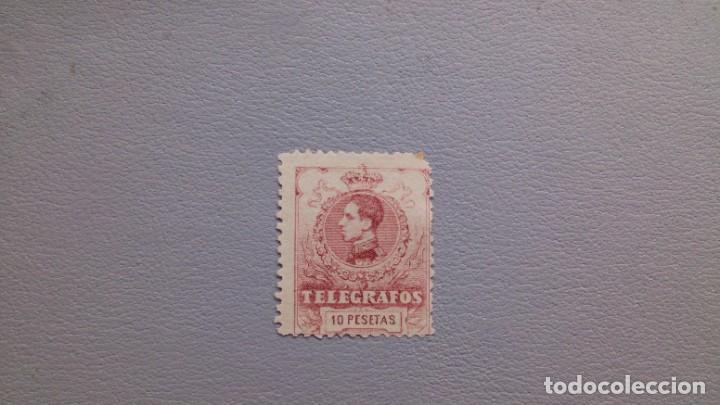 ESPAÑA-1912 -TELEGRAFOS- EDIFIL 54 - MH*- NUEVO - VARIEDAD PEUEBA - NUMERACION A000,000. SELLO CLAVE (Sellos - España - Telégrafos)