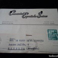 Sellos: TELEGRAMAS CESPLA 1950 COMERCIAL ESPAÑOLA-SUIZA. Lote 221893547