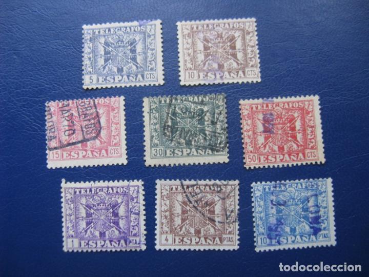 1949, TELEGRAFOS, EDIFIL 85/92 (Sellos - España - Telégrafos)