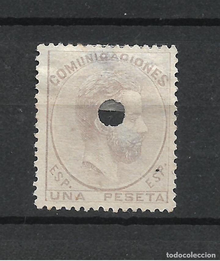 ESPAÑA 1872 EDIFIL 127T 127 TALADRO - 19/21 (Sellos - España - Telégrafos)