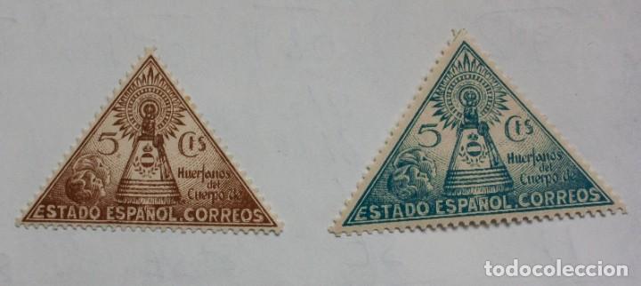 1938 - VIRGEN DEL PILAR - HUERFANOS DEL CUERPO DE CORREOS - SERIE COMPLETA (Sellos - España - Telégrafos)