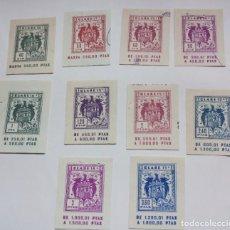 Selos: LOTE 10 SELLO/TIMBRE PAPEL FISCAL CORTADO DE DISTINTAS CLASES Y VALOR EN PTAS. Lote 227889355