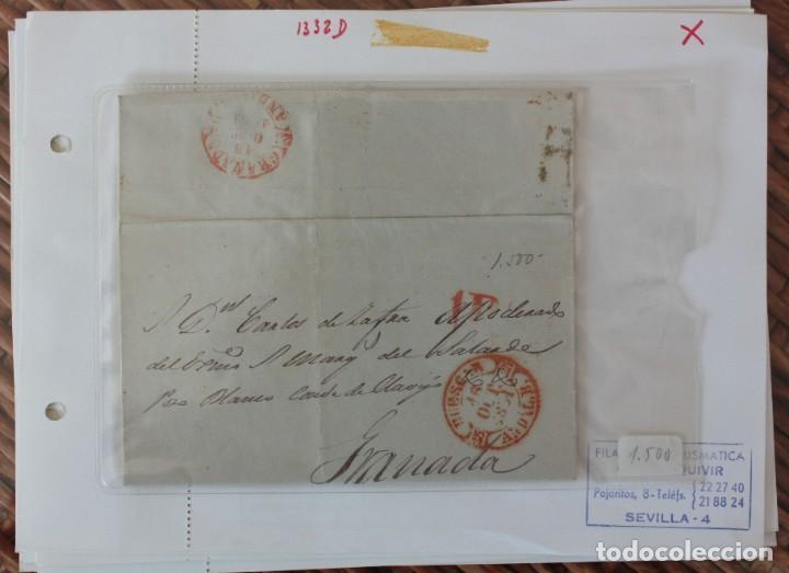 CARTA GRANADA HUESCAR DE 18 OCTUBRE 1951 (Sellos - España - Telégrafos)