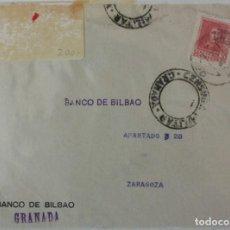Selos: CARTA BANCO BILBAO GRANADA, SELLO Nº 844 DE 1938. Lote 229194215
