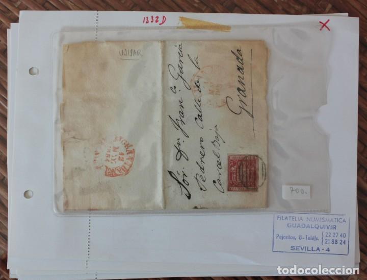 FRONTAL CARTA GRANADA A SEVILLA SELLO EDIFIL Nº 24 FRANQUEADA EN 12 MAYO 1854 (Sellos - España - Telégrafos)