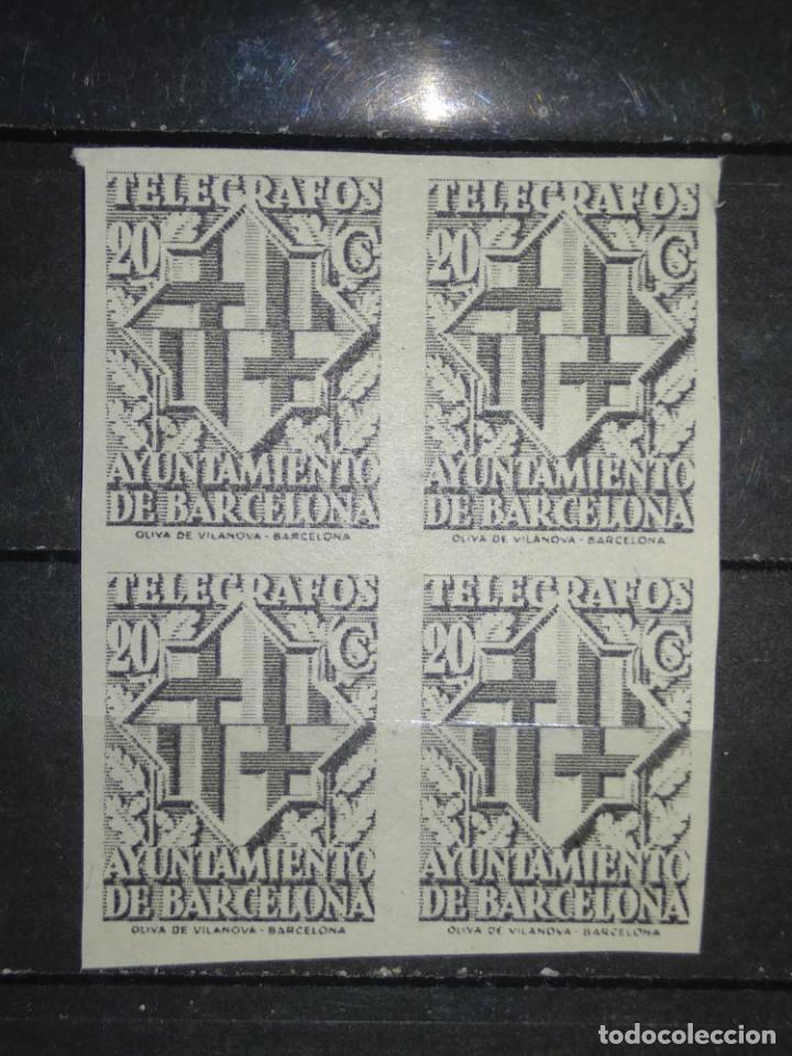 AÑO 1941 ESCUDO DE LA CIUDAD BARCELONA NUEVOS SIN DENTAR EDIFIL 14 (Sellos - España - Telégrafos)