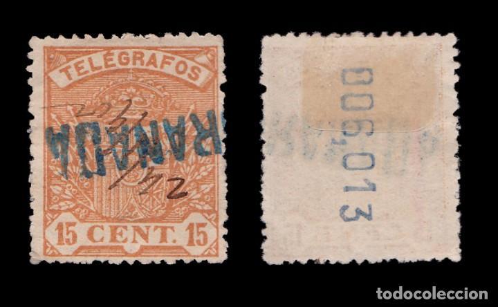Sellos: Telégrafos.1901.Escudo España.15c.Usado.Edifil.33 - Foto 2 - 233366845
