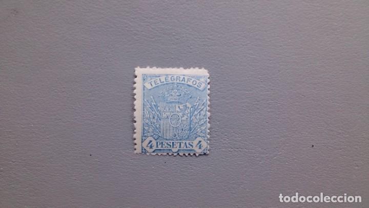 ESPAÑA - 1921 - ALFONSO XIII - TELEGRAFOS - EDIFIL 61 - MH* - NUEVO - VALOR CATALOGO 49€. (Sellos - España - Telégrafos)