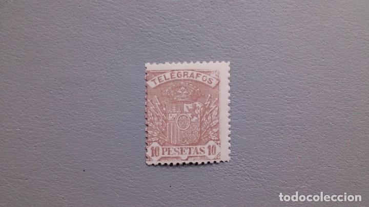 ESPAÑA - 1921 - ALFONSO XIII - TELEGRAFOS - EDIFIL 62 - MH* - NUEVO - VALOR CATALOGO 65€. (Sellos - España - Telégrafos)