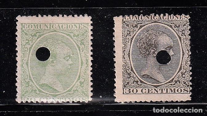 ESPAÑA.EDIFIL Nº220T Y 222T.V. AMARILLENTO Y BRONCE.20 Y 30C.TELEGRAFOS.ALFONSO XIII.DE 1886 A 1931. (Sellos - España - Telégrafos)