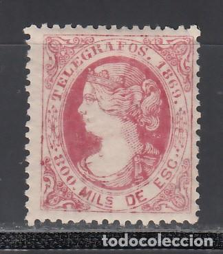 TELEGRAFOS. 1869 EDIFIL Nº 27 /*/, 800 M. ROSA (Sellos - España - Telégrafos)