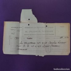 Timbres: ANTIGUO TELEGRAMA CON CENSURA MILITAR. TELEGRAFOS VIZCAYA. BILBAO. 1936-1939. ORIGINAL.. Lote 239825130