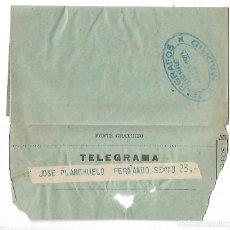 Sellos: 1R- TELEGRAMA DE TALAVERA DE LA REINA A MADRID EL 4 - 8 - 1.925 TEMA TESTAMENTARIA. Lote 241887135