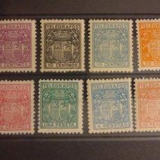 Selos: AÑO 1932-33 ESCUDO DE ESPAÑA SERIE COMPLETA EN NUEVO EDIFIL 68 AL 75. Lote 243102250