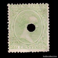Sellos: TELÉGRAFOS.1889-99.20C.TALADRO EDIFIL.220T.. Lote 245170695