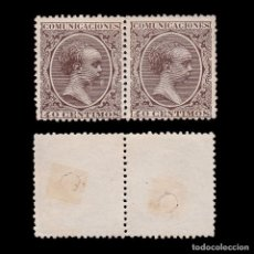 Sellos: TELÉGRAFOS.1889-99.40C.BLQ2.TALADRO EDIFIL.223T.. Lote 245175730