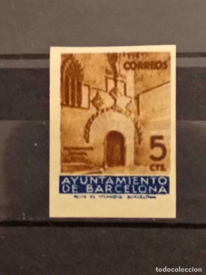 AÑO 1936 PUERTA GOTICA DEL AYUNTAMIENTO NUEVO SIN DENTAR EDIFIL 13 VALOR DE CATALOGO 32,00 EUROS (Sellos - España - Telégrafos)