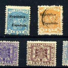 Francobolli: ESPAÑA (TELÉGRAFOS) Nº 63, 65, 66/7, 82/4. AÑO 1931/42. Lote 252959410