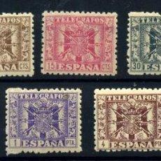 Sellos: ESPAÑA (TELÉGRAFOS) Nº 76/84. AÑO 1940/2. Lote 252959630