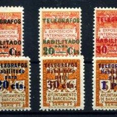 Sellos: ESPAÑA (BARCELONA-TELÉGRAFOS) Nº 1/8. AÑO 1930/34. Lote 260845855