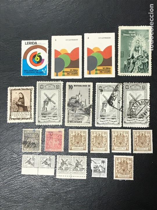 VIÑETAS, TELÉGRAFOS, MUTUALIDAD CORREOS,TIMBRE MÓVIL (Sellos - España - Telégrafos)