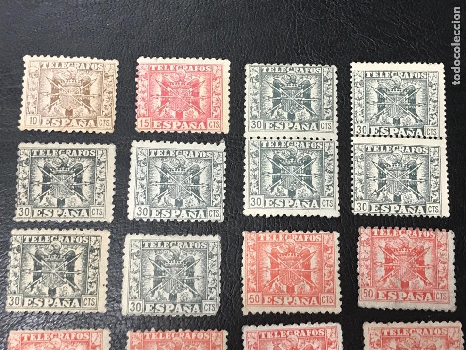 Sellos: Lote 18 sellos de telégrafos, nuevos sin fijasellos, ver fotos - Foto 2 - 263039475