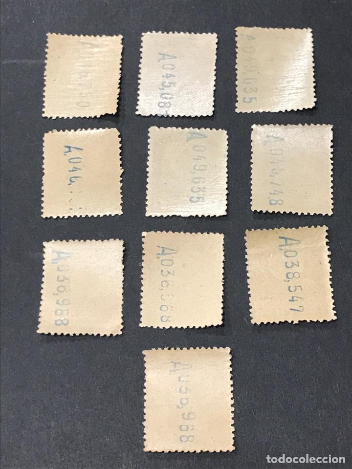 Sellos: Edifil 5 giro postal 1 PTA, nuevos, lote de 10 sellos - Foto 2 - 263046745