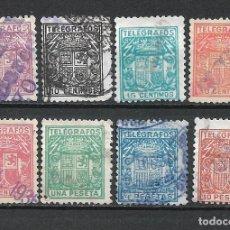 Sellos: ESPAÑA TELEGRAFOS 1932-33 EDIFIL 68/75 USADO - 1/39. Lote 264074390