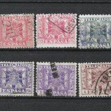 Sellos: ESPAÑA TELEGRAFOS 1940-42 LOTE USADO - 1/39. Lote 264074545
