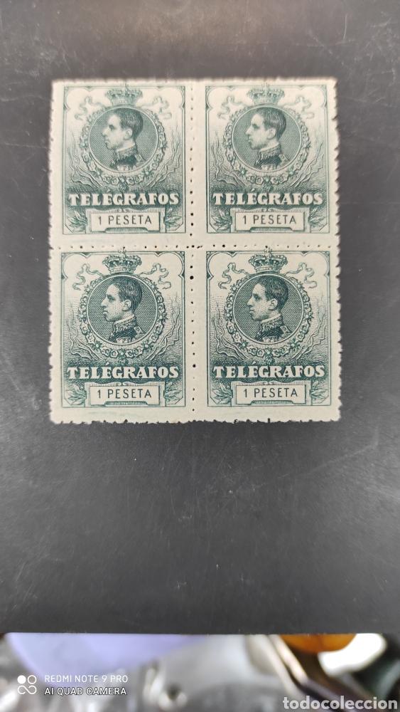 ESPAÑA SELLOS TELÉGRAFOS EDIFIL 52 NUEVO PERFECTO BLOQUE CUATRO 60€ CATALOGO (Sellos - España - Telégrafos)