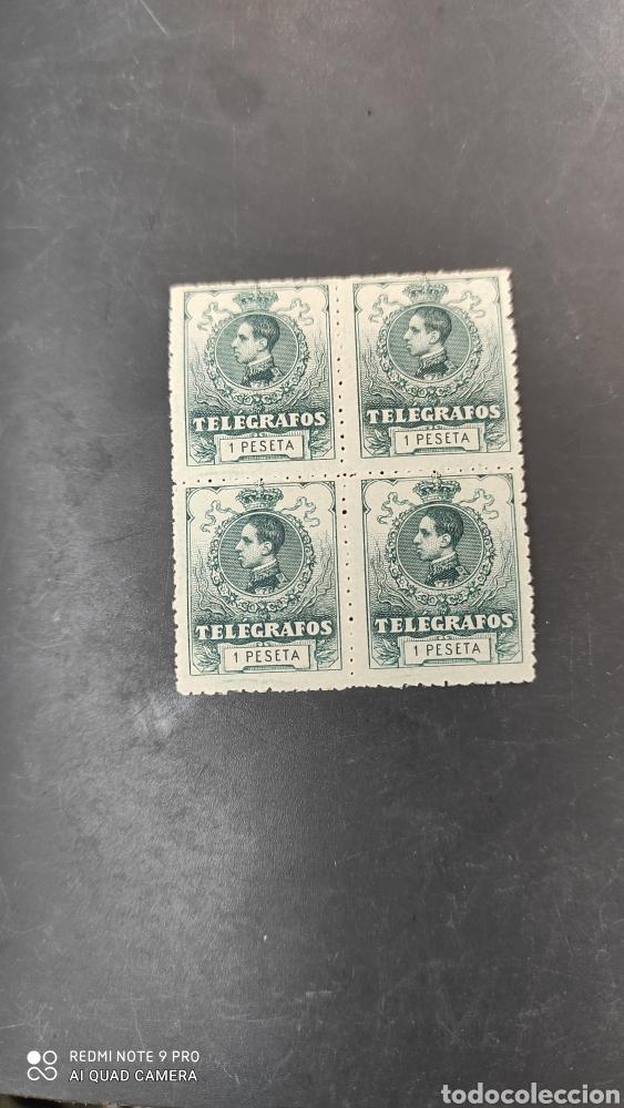 Sellos: España Sellos telégrafos edifil 52 nuevo perfecto bloque cuatro 60€ catalogo - Foto 4 - 264139275