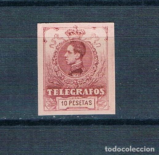 ESPAÑA TELEGRAFOS 54 SIN DENTAR MNH** CON GOMA ORIGINAL LUJO ALTO VALOR NÚMERO BAJO VALOR CLAVE (Sellos - España - Telégrafos)