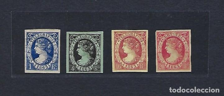 ESPAÑA. TELÉGRAFOS . AÑO 1865. ISABEL II. (Sellos - España - Telégrafos)