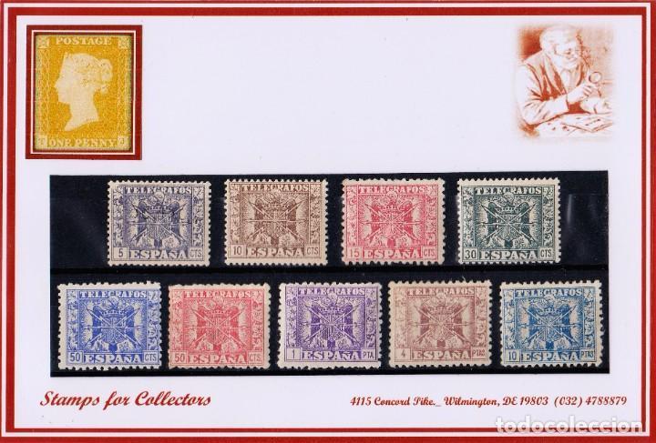 EDIFIL 76/84 TELEGRAFOSL, NUEVOS, CON Y SIN FIJASELLOS (Sellos - España - Telégrafos)