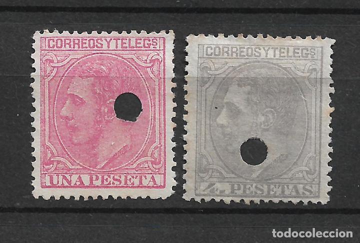 ESPAÑA 1879 EDIFIL 207T Y 208T USADO - 19/18 (Sellos - España - Telégrafos)