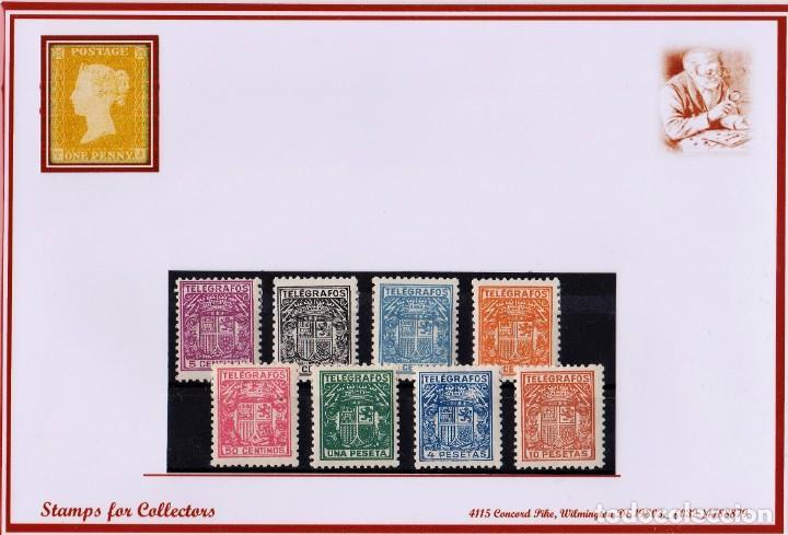 EDIFIL 68/75..TELEGRAFOS, CON FIJASELLOS (Sellos - España - Telégrafos)