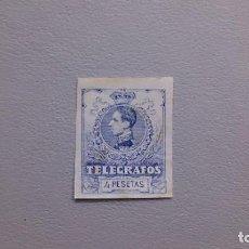 Sellos: ESPAÑA - 1912 - ALFONSO XIII - TELEGRAFOS - EDIFIL 53S - SIN DENTAR - MH* - NUEVO.. Lote 274362633