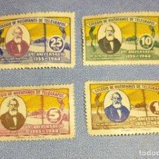 Sellos: SERIE DE SELLOS COLEGIO DE HUERFANOS DE TELEGRAFOS 89 ANIVERSARIO 1855 - 1944. Lote 275691378