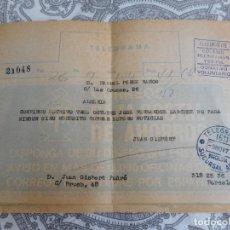 Selos: ANTIGUO TELEGRAMA.TELEGRAFOS.BARCELONA SUCURSAL ARCO. 1977. COLEGIO HUERFANOS.. Lote 279333468