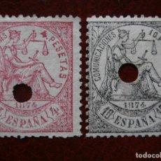 Sellos: ESPAÑA PRIMER CENTENARIO - TELEGRAFOS 1874 EDIFIL 151 Y 152 -.. Lote 284347253