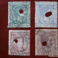 Sellos: ESPAÑA PRIMER CENTENARIO - TELEGRAFOS 1875 EDIFIL 170/171 - 1876 EDIFIL 181 Y 1878 EDIFIL 198 -.. Lote 284347883