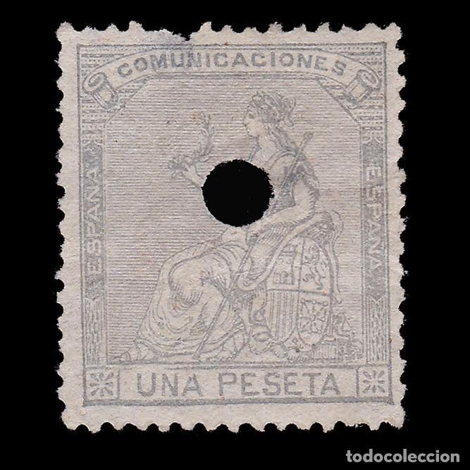 TELÉGRAFOS.1873.ALEGORÍA ESPAÑA.1P TALADRO .EDIFIL.138 T (Sellos - España - Telégrafos)