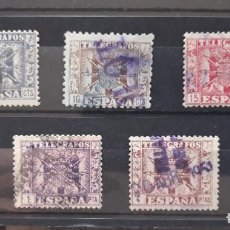 Sellos: SELLOS USADOS TELEGRAFOS ESCUDO ESPAÑA 1940 - 1942. Lote 293940378