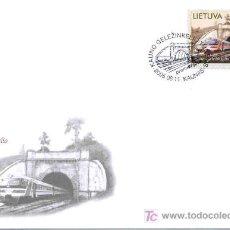 Sellos: LITUANIA 2005 . SOBRE PRIMER DIA. MONUMENTOS TECNICOS. TUNEL DE LA LINEA FERREA DE KAUNAS. Lote 3109068