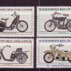 Sellos: BERLIN 655/58** - AÑO 1983 - MOTOCICLETAS ANTIGUAS. Lote 26969084