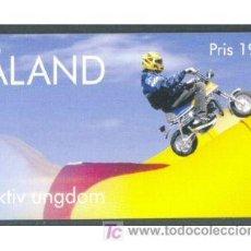 Sellos: ALAND 1998 JUVENTUD ACTIVA MOTOS CARNET CON 8 SELLOS YVERT 136/139 CARNET. Lote 173384788