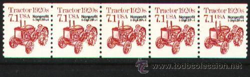 USA 1989 TRACTOR PRECANCELADO (Sellos - Temáticas - Otros Transportes)