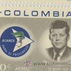 Sellos: SELLO COLOMBIA-1966-AEREO -10C KENEDY- ALIANZA PARA EL PROGRESO. Lote 12277485